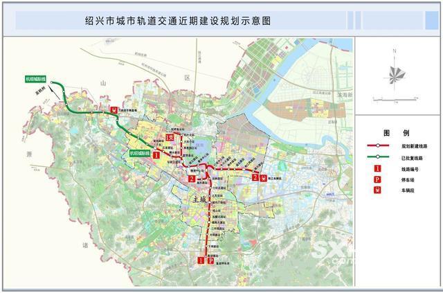 绍兴地铁一号线具体站点位置出炉(附分布图)